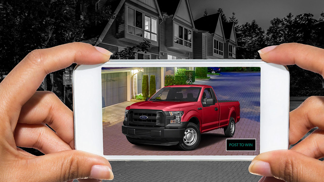 Augmented Reality Truck In Driveway