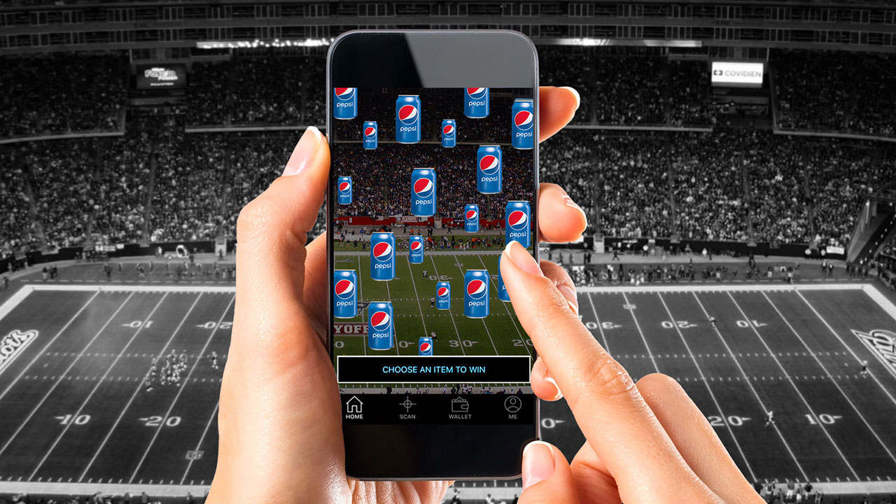 Sizzle's Pepsi / Patriots Augmented Reality Game