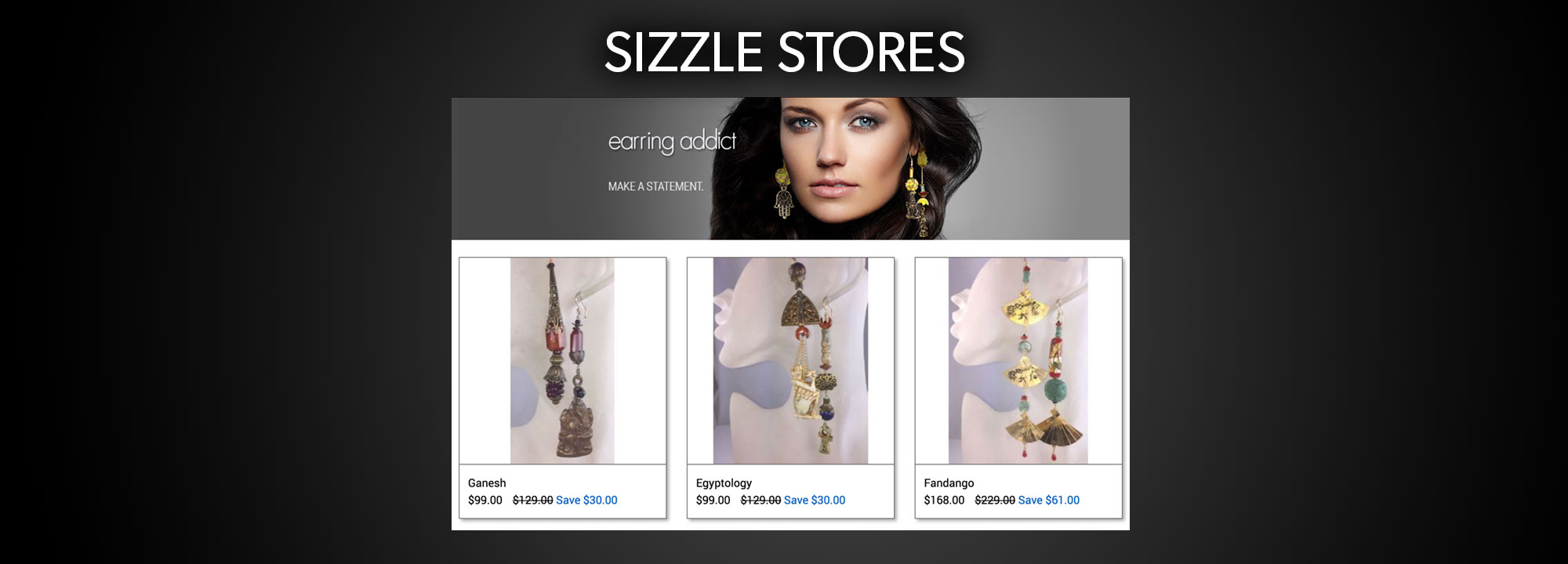 Earring Addict Branded Sizzle Store Front