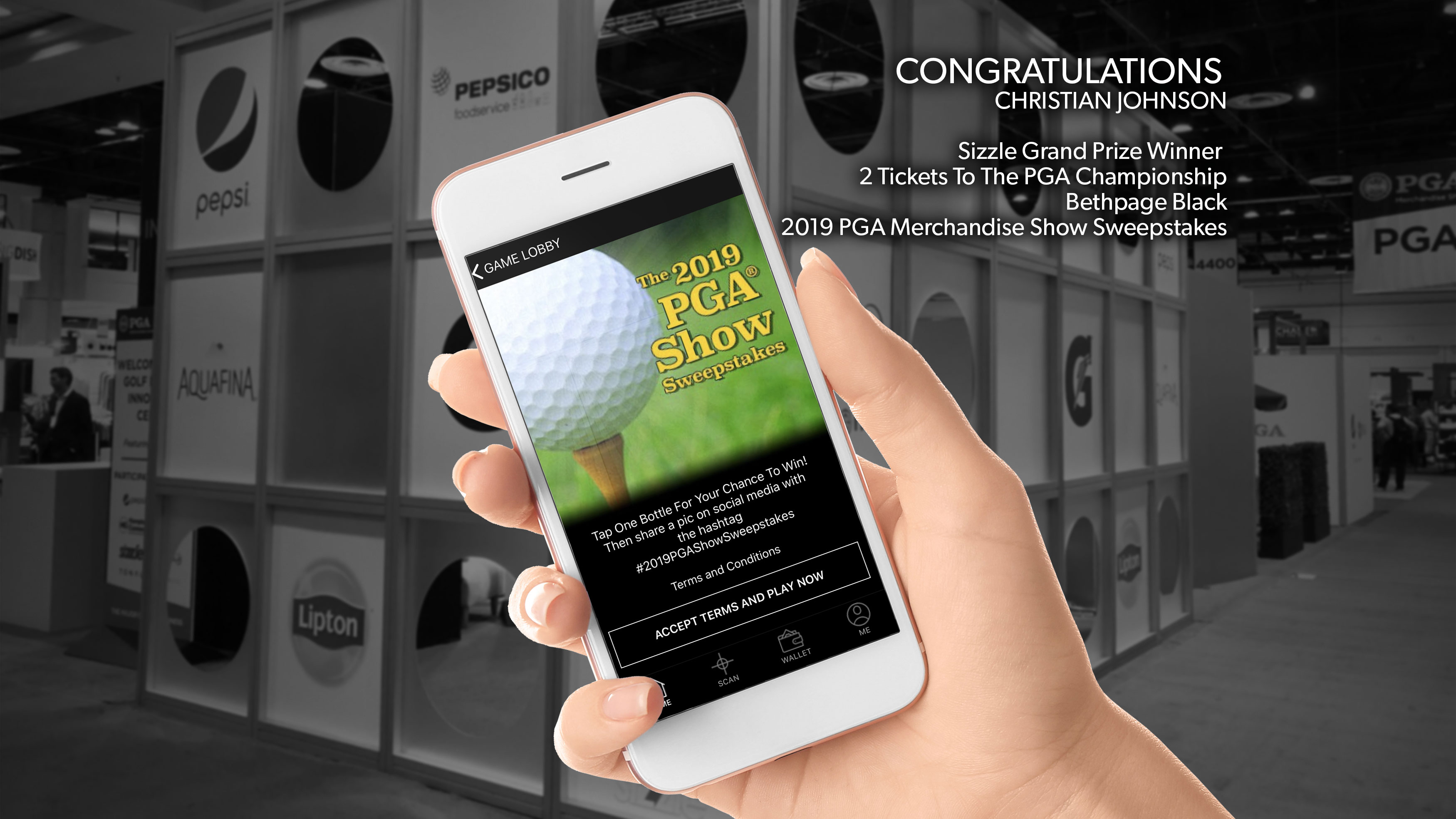 Sizzle PGA Show Sweepstakes Winner